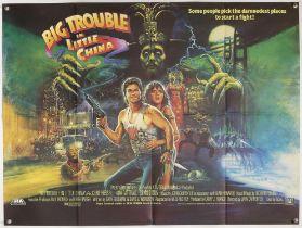 Big Trouble in Little China (1986) British Quad film poster