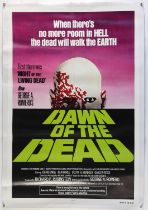 Dawn of the Dead (1978) US One Sheet film poster, linen backed, 27 x 41 inches.