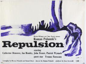 Repulsion (R-1974) British Quad film poster, directed by Roman Polanski, artwork by Jan Lenica,