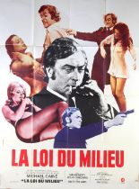 Get Carter (1971) French Grande film poster, Crime starring Michael Caine, MGM, folded,