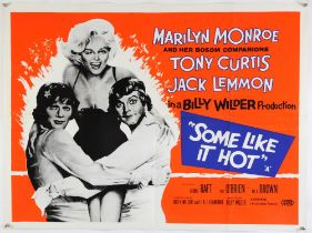 Some Like It Hot (R-1961) British Quad film poster, starring Marilyn Monroe, Tony Curtis & Jack