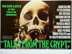 Tales From the Crypt (1972) British Quad film poster, Horror by Freddie Francis, folded,