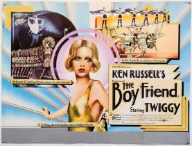 The Boyfriend (1971) UK Quad poster, for the Ken Russell musical starring Twiggy, folded,