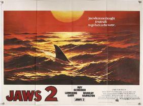 Jaws 2 (1978) British Quad teaser film poster
