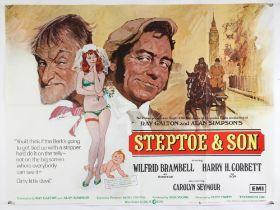 Steptoe & Son (1972) British Quad film poster, illustration by Arnaldo Putzu, folded,