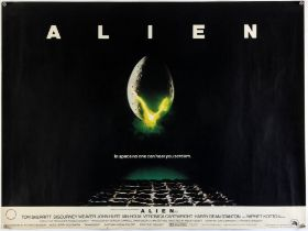Alien (1979) British Quad Film poster, rolled, 30 x 40 inches.