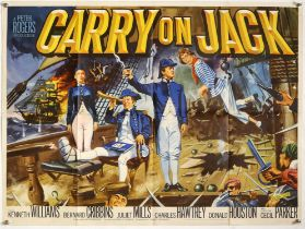 Carry On Jack (1963) British Quad film poster, artwork by Tom Chantrell, folded, 30 x 40 inches.
