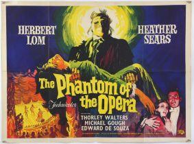 Phantom of the Opera (1962) British Quad film poster, Hammer Horror, artwork by Renato Fratini,
