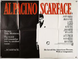 Scarface (1983) British Quad film poster