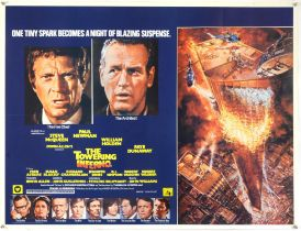 The Towering Inferno (1974) British Quad film poster, artwork by John Berkey, starring Steve