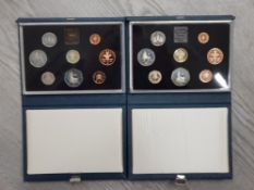 2 ROYAL MINT UK 1983 AND 1984 PROOF YEAR SETS COMPLETE IN ORIGINAL CASES WITH CERTIFICATES