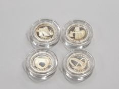 ROYAL MINT UK 2003 SILVER PROOF PATTERN SET OF 4 BRIDGES COMPLETE WITH ORIGINAL CASE AND