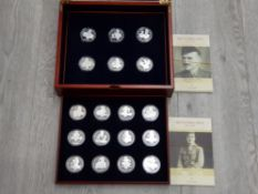CHANNEL ISLES SET OF 18 STERLING SILVER UK PROOF COMM CROWNS VICTORIA CROSS 2006 509G CELEBRATES 150