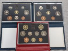 3 ROYAL MINT UK PROOF SETS DATING 1988 1989 AND 1990 ALL IN ORIGINAL CASES WITH CERTIFICATES