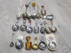 20 DIFFERENT SPOONS MAINLY WITH CRESTS