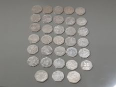 33 DIFFERENT COMMEMORATIVE 50 PENCE PIECES NICE CONDITION