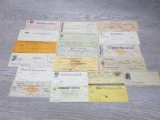 U.S.A GOOD VARIETY OF OLD CHEQUES FROM 1899 TO 1940S MAINLY HIGH GRADES