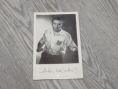 STANLEY MATTHEWS FOOTBALL PHOTOGRAPH SIGNED BY HIM AT BASE