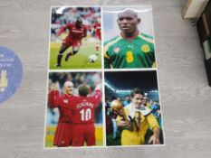 MIDDLESBROUGH LARGE FORMAT COLOURED PICTURES 12INCHES BY 16INCHES OF PLAYERS JUNINHO AND JOSEPH
