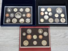 3 ROYAL MINT UK PROOF SETS DATING 2004 2006 AND 2010