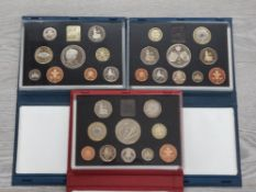 3 ROYAL MINT UK PROOF SETS DATING 1997 1998 AND 1999