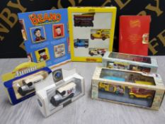 COLLECTION OF DIECAST VEHICLES THE BEANO ALL IN BOX WITH UNIQUE BEANO MAGAZINE