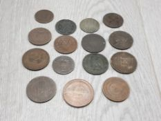 COLLECTION OF VARIOUS COINAGE INCLUDES INDIAN STRAITS ONE CENT HONG KONG ONE CENT ETC