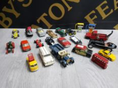 COLLECTION OF DIECAST VEHICLES INCLUDING CORGI, MATCHBOX AND HUSKY