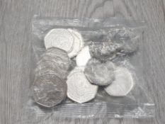MINT SEALED BAG OF SHERLOCK HOLMES 50 PENCE PIECES