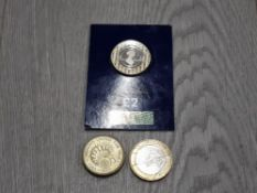 2017 JANE AUSTEN LIMITED EDITION £2 COIN IN CHANGECHECKER PACKET TOGETHER WITH 1908-2008 LONDON