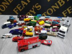 COLLECTION OF DIECAST VEHICLES INCLUDING CORGI, MATCHBOX AND DAYS GONE ETC