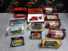 COLLECTION OF DIECAST VEHICLES ALL BOXED INCLUDES ONE DINKY AND MATCHBOX