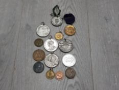 COLLECTION OF OLD MEDALLIONS INCLUDES GEORGE VI AND QUEEN MARY SILVER JUBILEE 1935 WHOLESALE LIMITED