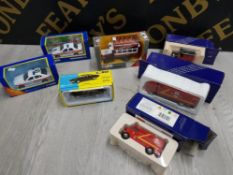 COLLECTION OF CORGI DIECAST VEHICLES INCLUDES ROYAL MAIL AND POLICE CARS ALL IN BOX