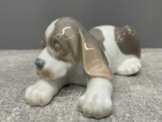 LLADRO 1072 SLEEPY PUPPY