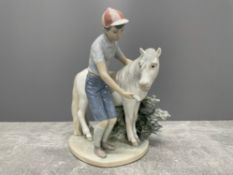 LLADRO 1460 BOY AND HIS PONY