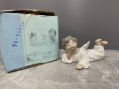 LLADRO 4541 ANGEL LYING DOWN WITH ORIGINAL BOX
