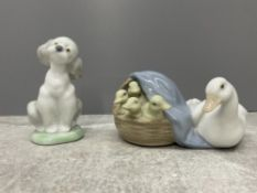 LLADRO 7685 FRIEND FOR LIFE AND LLADRO 4895 DUCKLINGS