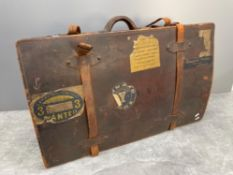 WORLD WAR ONE TRAVEL CASE WITH ORIGINAL STICKERS