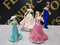 4 COLLECTABLE LADY FIGURES INCLUDES COAL PORT MY WONDERFUL MUM, ROYAL WORCESTER ELIZABETH LIMITED