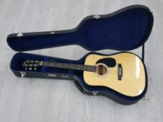 SQUIER FENDER SA-110 ACOUSTIC GUITAR IN A TKL CARRY CASE