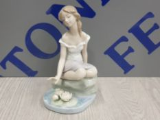 LLADRO FIGURE 7706 REFLECTIONS OF HELENA SIGNED AND DATED TO BASE
