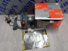 MITRE SAW 190 MM COMPOUND IN BOX WITH 2 PACK OF CIRCULAR SAW BLADES