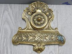 ORNATE BRASS INK WELL