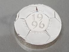 ROYAL MINT 1996 2 POUND FOOTBALL SILVER PROOF PIEDFORT COIN IN CASE OF ISSUE WITH CERTIFICATE