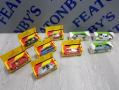 COLLECTION OF CLASSIC DIE CAST VEHICLES INCLUDES CLASSIC SPORTS CAR COLLECTION AND MOBIL ETC