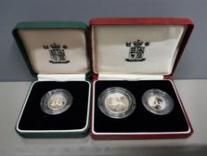 ROYAL MINT 1990 5P SILVER PIEDFORD PROOF AND 1992 10P SILVER PIEDFORD PROOF WOTH ADDITIONAL 1990