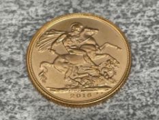 22CT GOLD 2016 FULL SOVEREIGN COIN