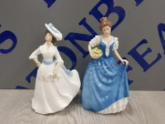 2 ROYAL DOULTON FIGURES INCUDING MARGARET AND HELEN