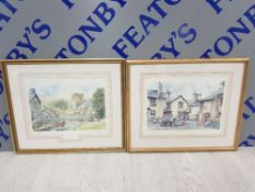2 FRAMED LIMITED EDITION PRINTS BY BRIAN EDEN INCLUDES HAWKES HEAD 606/850 AND GRASMERE 23/850